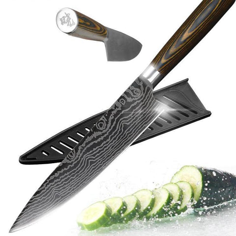 Gyuto Japanese Handmade 8 Inch Kitchen Knife - CandM Online Store