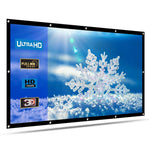 120'' Inch Projector Screen 16:9 HD 4K 3D Indoor Outdoor - CandM Online Store
