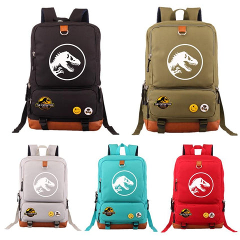2018 Hot Jurassic Park Student Backpack Shoulder Bag