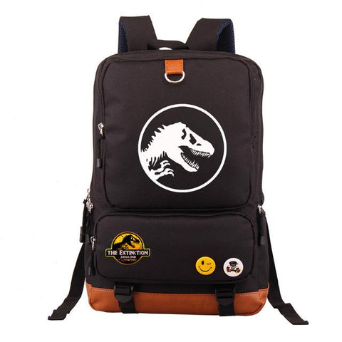 Student Backpack Shoulder Bag 2018 Hot Jurassic Park Theme