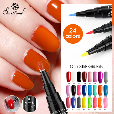 3 In 1 Gel Nail  Polish Pen 24 Colors - CandM Online Store