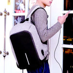 Anti Theft Waterproof Backpack With USB Charger Hidden Zipper - CandM Online Store