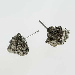 raw pyrite stone earrings