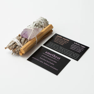 amethyst cleansing trio