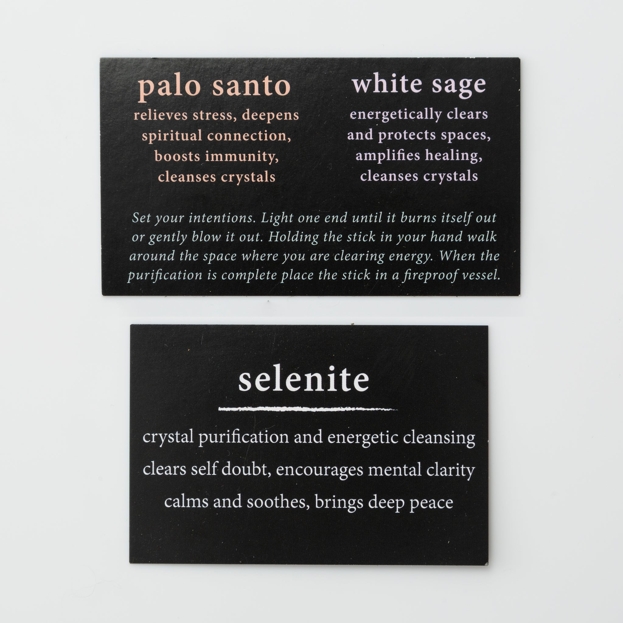 selenite cleansing trio