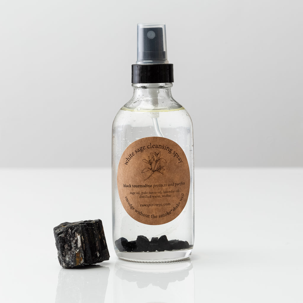 white sage palo santo energy cleansing spray