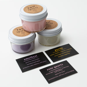 rose scented crystal reveal candle trio