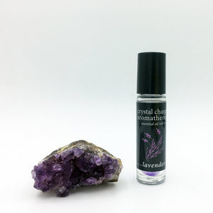 lavender/amethyst crystal charged essential oil roll-on