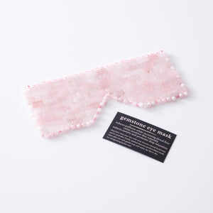 Rose Quartz Gemstone Eye Mask