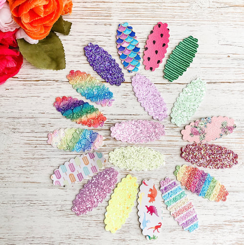 Scalloped Snap Clip SURPRISE SET OF 6 Bundle Grab Bags