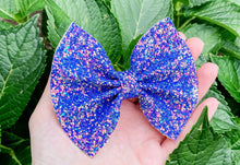 Fall Purple Glitter Bow Headband | Hair Clip