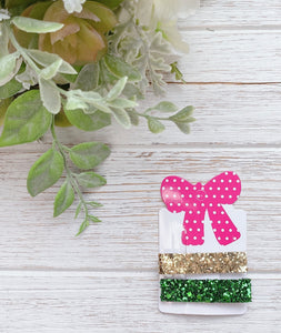 St Patrick's Day Mix Set of 2 Glitter Alligator Clips