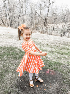 Frosted Orange Chunky Glitter Bow Headband | Hair Clip