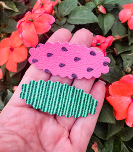 Scalloped Watermelon SET OF 2 Snap Clips