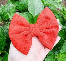 Pumpkin Burnt Orange Liverpool Fabric Bow Headband | Hair Clip