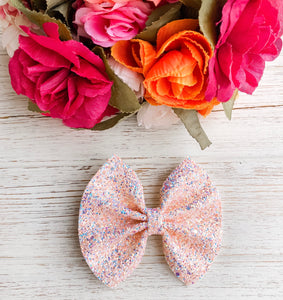 Sea Shell Glitter Bow Headband | Hair Clip