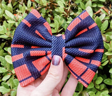 Vintage Buffalo Plaid Liverpool Fabric Bow Headband | Hair Clip