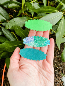 Sea of Greens SET OF 3 Snap Clips