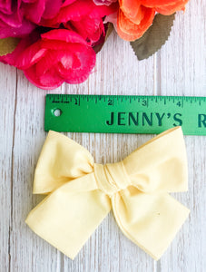 Yellow Petite Hand Tied Bow