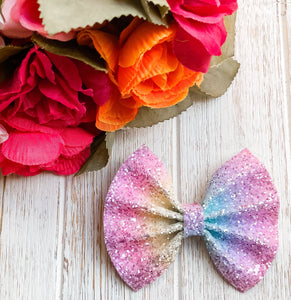 glitter, glitter bow, braid, hair clip, girl, toddler, bow, bows, headband, headbands, head wrap, baby, baby shower, baby-photography, photography prop, girl hair style, hairstyles, Fabric Bow, faux leather bow, Hair bow, pastel glitter bow, pastel rainbow glitter bow, rainbow