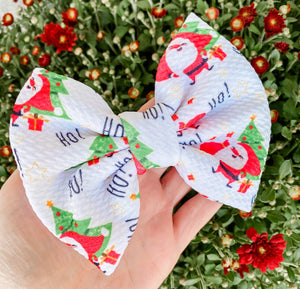 Christmas Santa Liverpool Fabric Bow Headband | Hair Clip