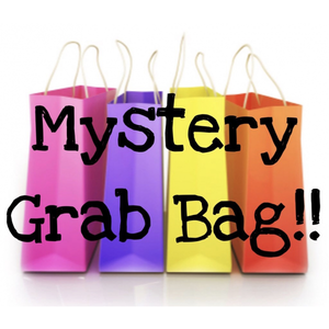 "Set of 3 Mystery Grab Bags Hand Tied 4"" Fabric Bow Headband 