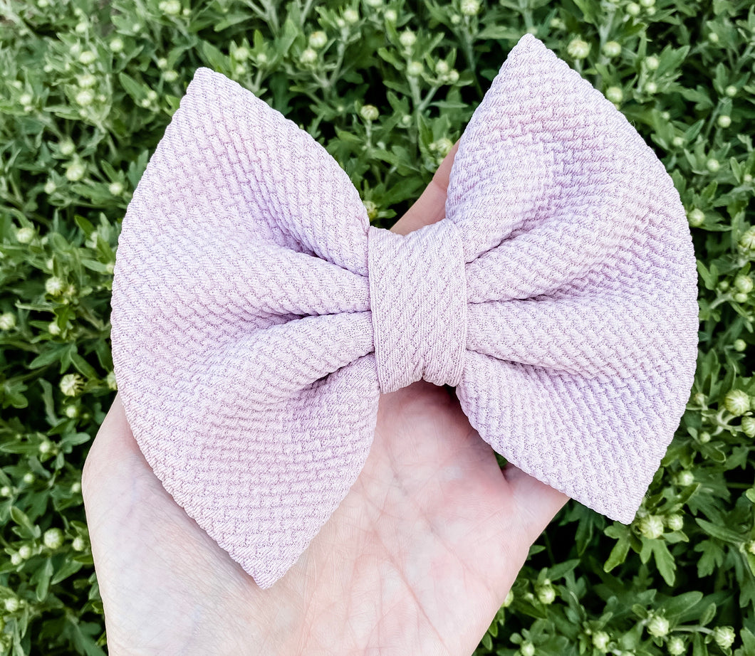 Dusty Rose Pink Liverpool Fabric Bow Headband | Hair Clip