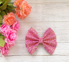 glitter, glitter bow, braid, hair clip, girl, toddler, bow, bows, headband, headbands, head wrap, baby, baby shower, baby-photography, photography prop, girl hair style, hairstyles, Fabric Bow, faux leather bow, Hair bow, pink glitter bow
