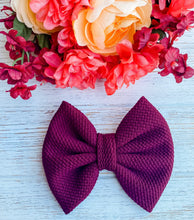 Burgundy Liverpool Fabric Bow Headband | Hair Clip