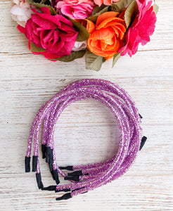 Matte Purple Glitter Headband