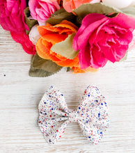 American Red White & Blue Chunky Patriotic Glitter Bow Headband | Hair Clip