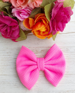 Barbie Pink Liverpool Fabric Bow Headband | Hair Clip