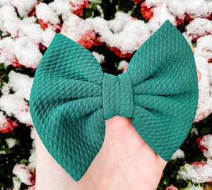 Evergreen Liverpool Fabric Bow Headband | Hair Clip