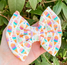 3 Scoops Ice Cream Fabric Bow Headband | Hair Clip