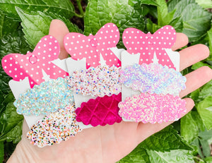 Scalloped Snap Clip SURPRISE SET OF 4 Bundle Grab Bags