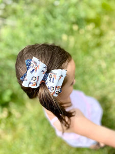 Dance it Out  Faux Leather Glitter Bow Headband | Hair Clip