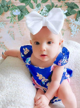 White Liverpool Fabric Bow Headband | Hair Clip