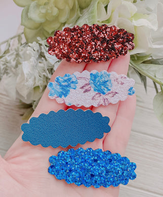 Floral SET OF 4 Snap Clips