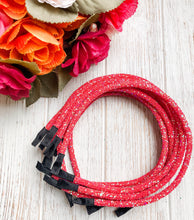 Iridescent Red Glitter Headband