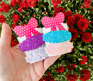 Scalloped Snap Clip SURPRISE SET OF 2 Bundle Grab Bags