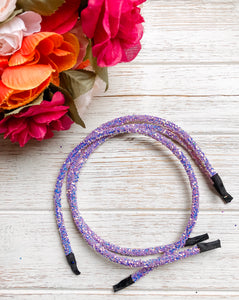 Purple Glitter Headband