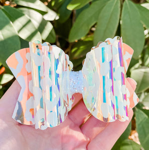 Scalloped Leopard Transparent Pool Bow Headband | Hair Clip