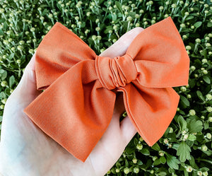 Fall Terra Hand Tied Fabric Bow Headband | Hair Clip