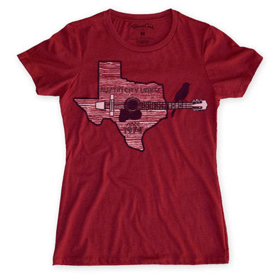 Women's ACL Texas Guitar T-Shirt -Discontinued