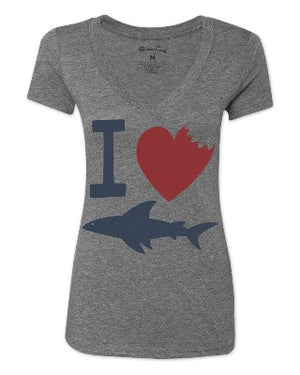 Women's CDR I Heart Sharks T-Shirt - Discontinued