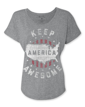 Women's Keep America Awesome T-Shirt -Discontinued