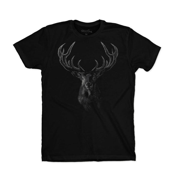Men's Woodblock Elk T-Shirt