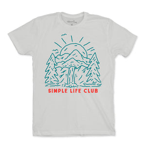 Men's Simple Mountain Sun T-Shirt