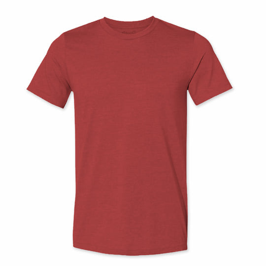 Men's Heather Canvas Red Blank T-Shirt