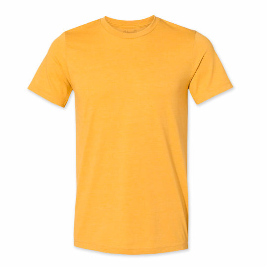 Men's Heather Mustard Blank T-Shirt